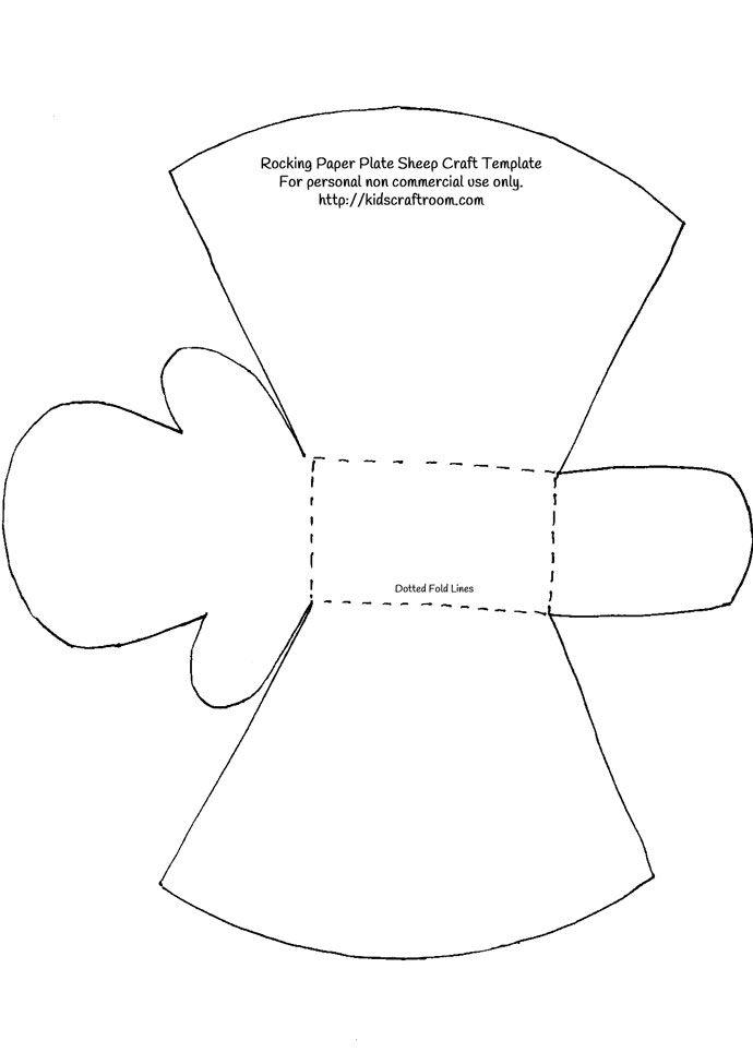 Rocking-Paper-Plate-Sheep-Craft-Template - Kids Craft Room   Craft ...