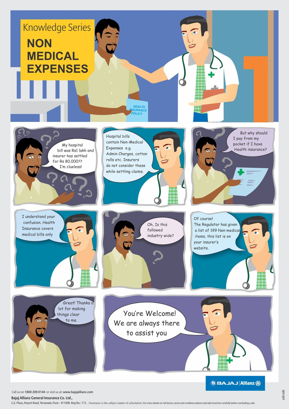 Auto insurance comic strips
