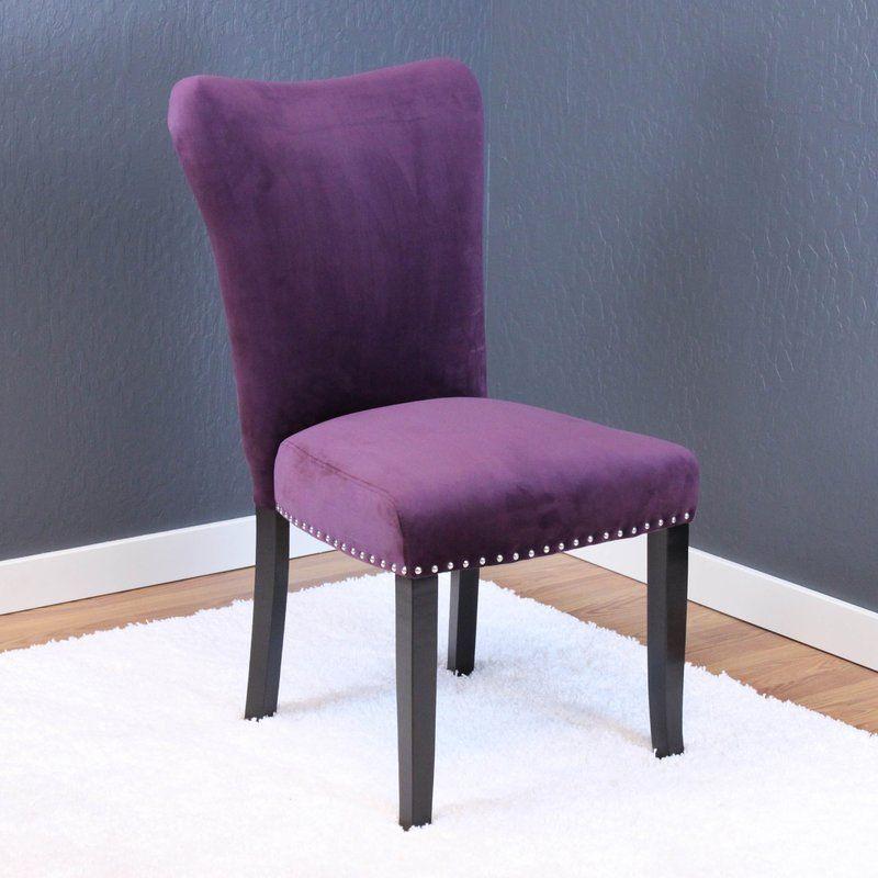 Kaat Velvet Dining Side Chair Velvet dining room chairs