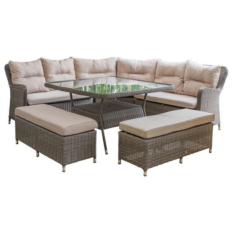 Neptune Murano Modular Outdoor Corner Group Warm Slate Garden Furniture Sets Outdoor Furniture Sets Outdoor Garden Furniture