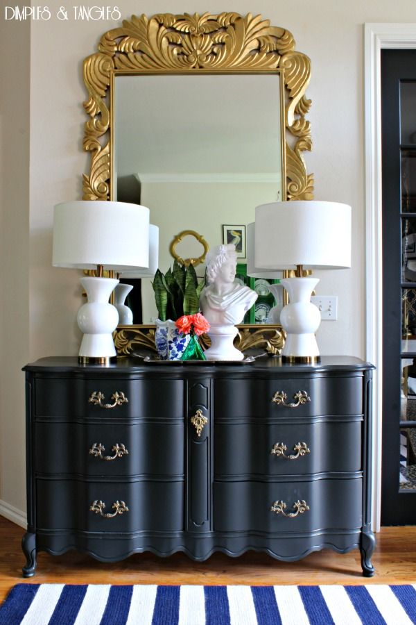 our summer home tour 2015 large gold mirror french provincial