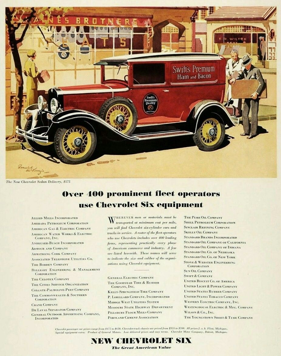 Chevrolet Trucks 1931 Car Advertising Automobile Advertising