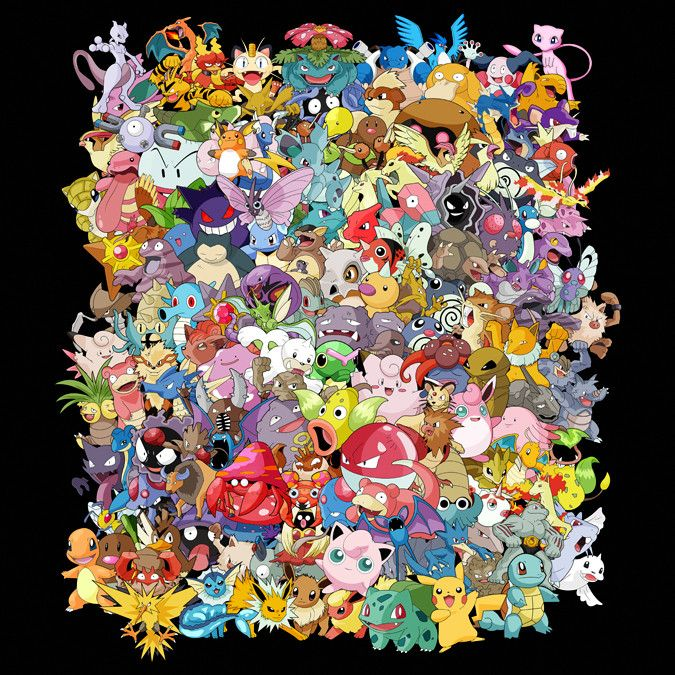 c4c11f9f7 THE 151 - The first generation of pokemon all in one image ...