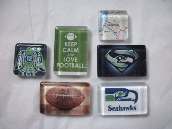 6 Seattle Seahawks Magnets Seahawks Bar Ware Seahawks Home Decor