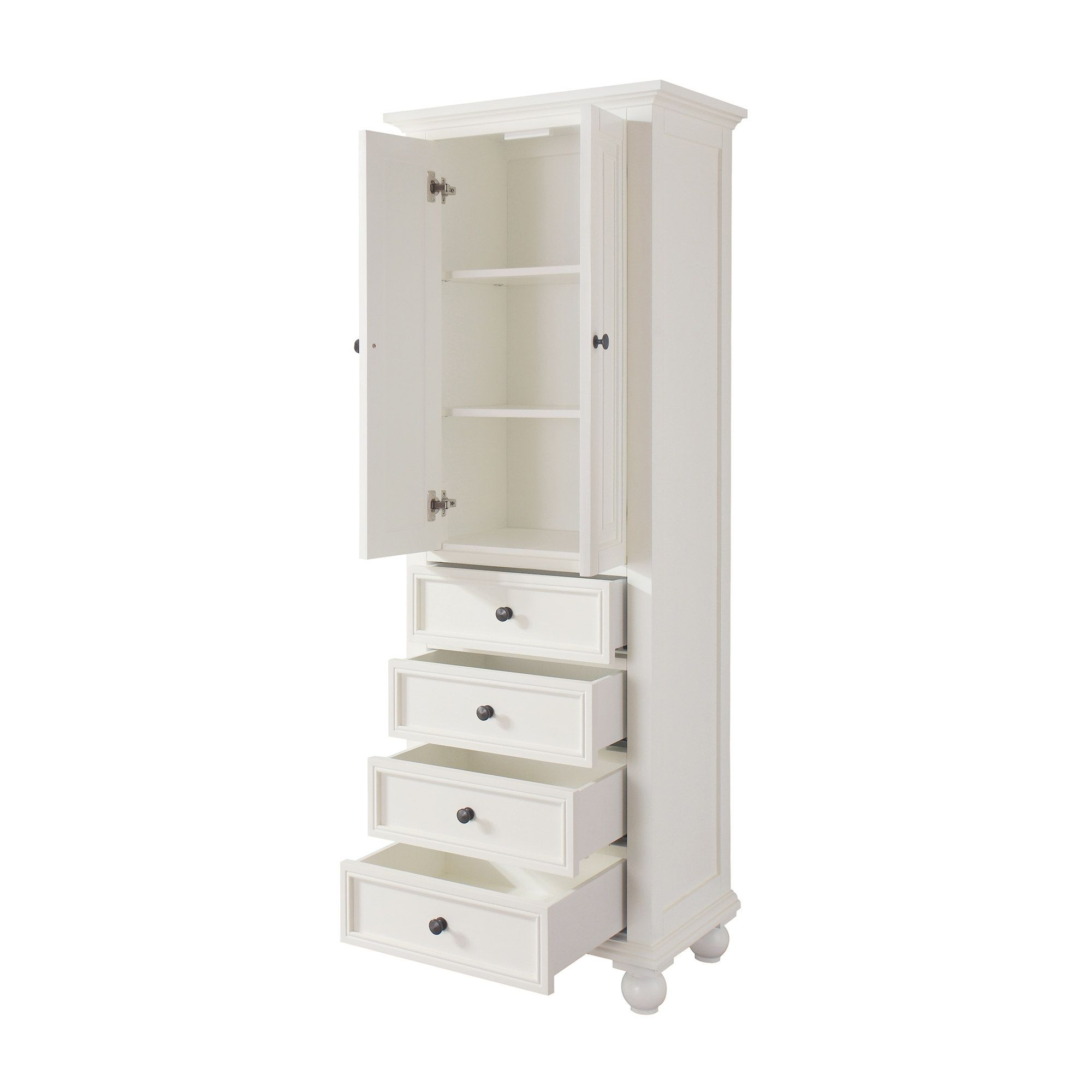 Avanity Thompson 24 Inch French White Finish Linen Cabinet ...