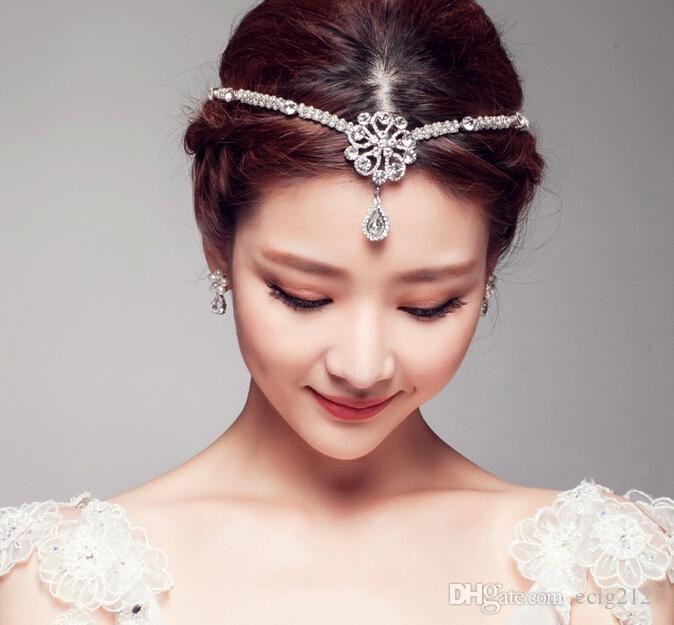 Vintage Wedding Bridal Ladies Silver Forehead Crown Tiara ...