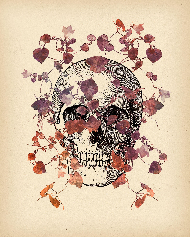 Framed Print Picture Poster Street Art Medical Anatomy Blue Neon Human Skull