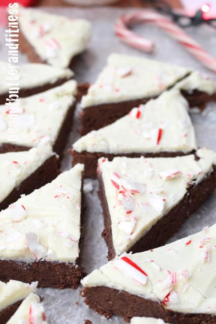 Peppermint Bark Black Bean Protein Brownies – Peanut Butter and Fitness