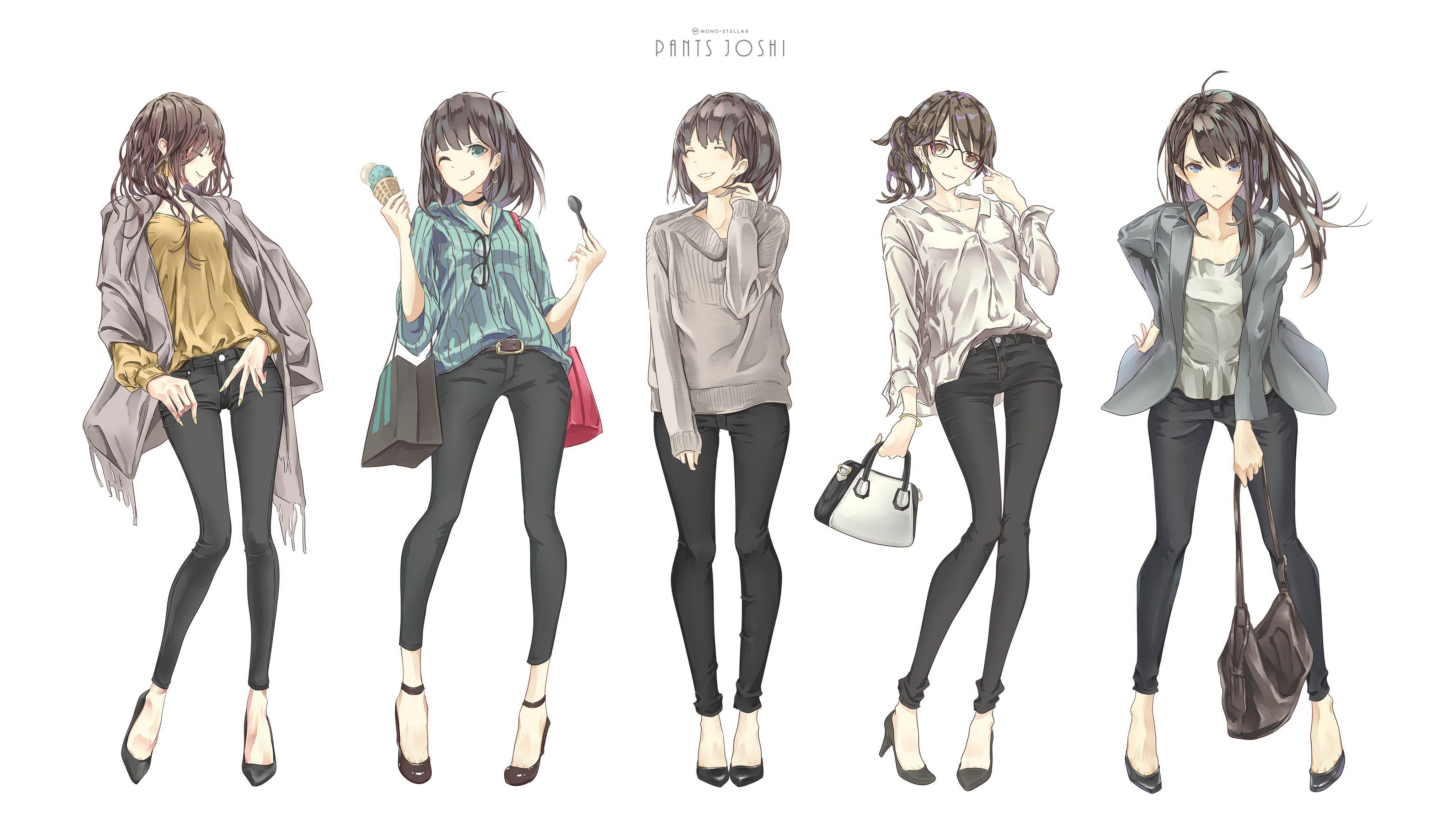 tight black pants streetmoe anime anime characters black pants