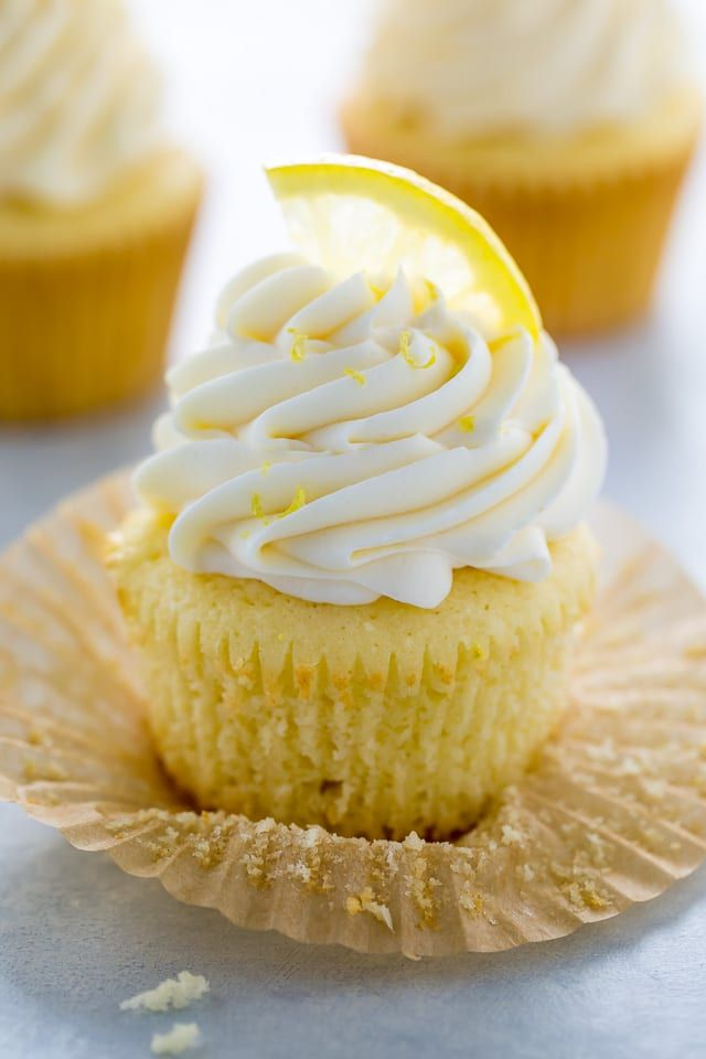 One Bowl Lemon Ricotta Cupcakes Recipe Yummy Cakes Lemon Desserts Cupcake Recipes