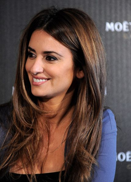 More Pics Of Penelope Cruz Lettering Tattoo Hair Styles Long Layered Hair Long Hair Styles
