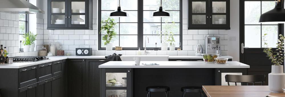 Black Kitchen Cabinets Lerhyttan Series Kuchen Design Kuche Schwarz Kuchendesign