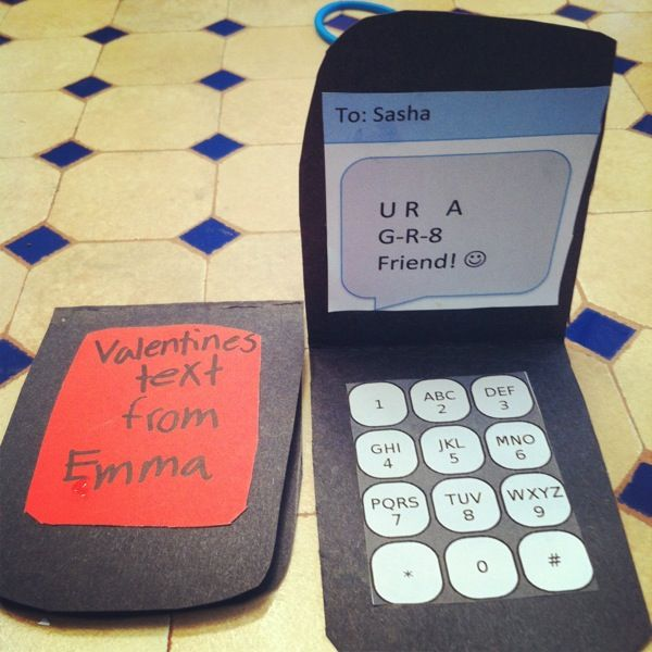 homemade cell phone valentines day card valentine