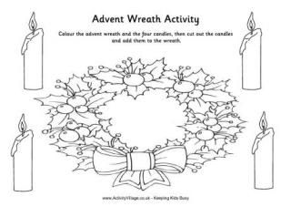 Advent Wreath Writing Activity Advent Coloring Advent Wreath Wreath Printable