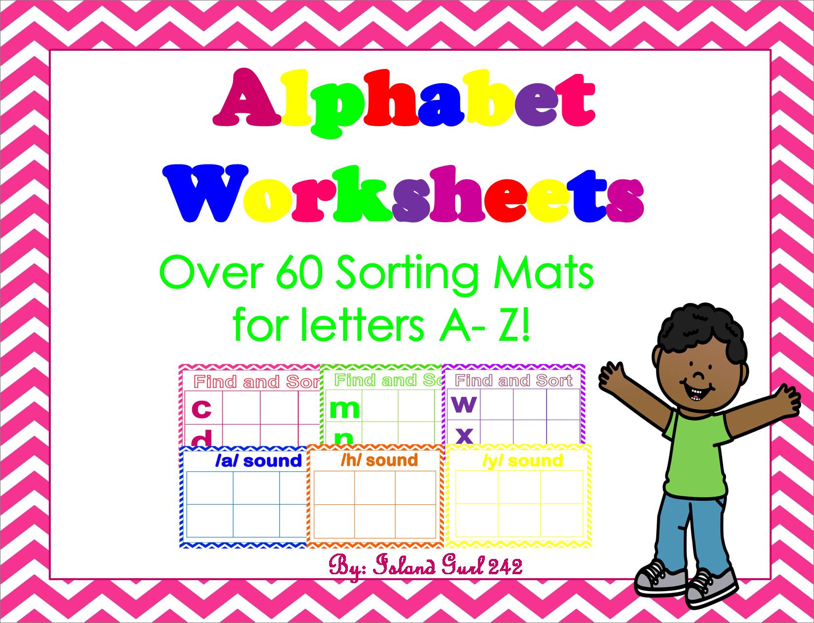 Alphabet Sorting Mats A Z