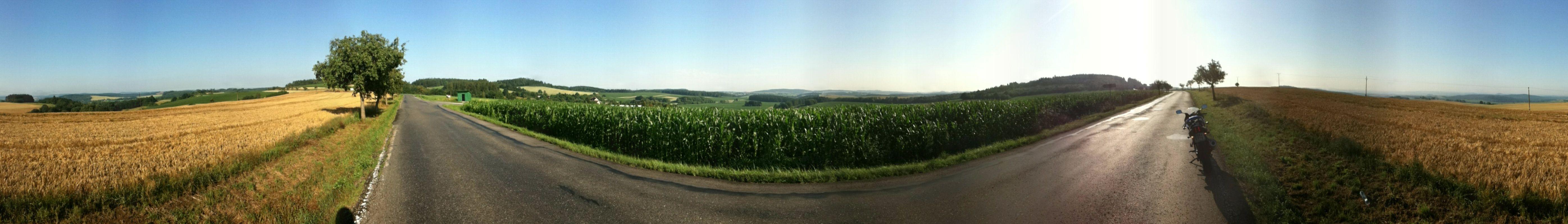 My first longer trip (about 90km) Jul 2012