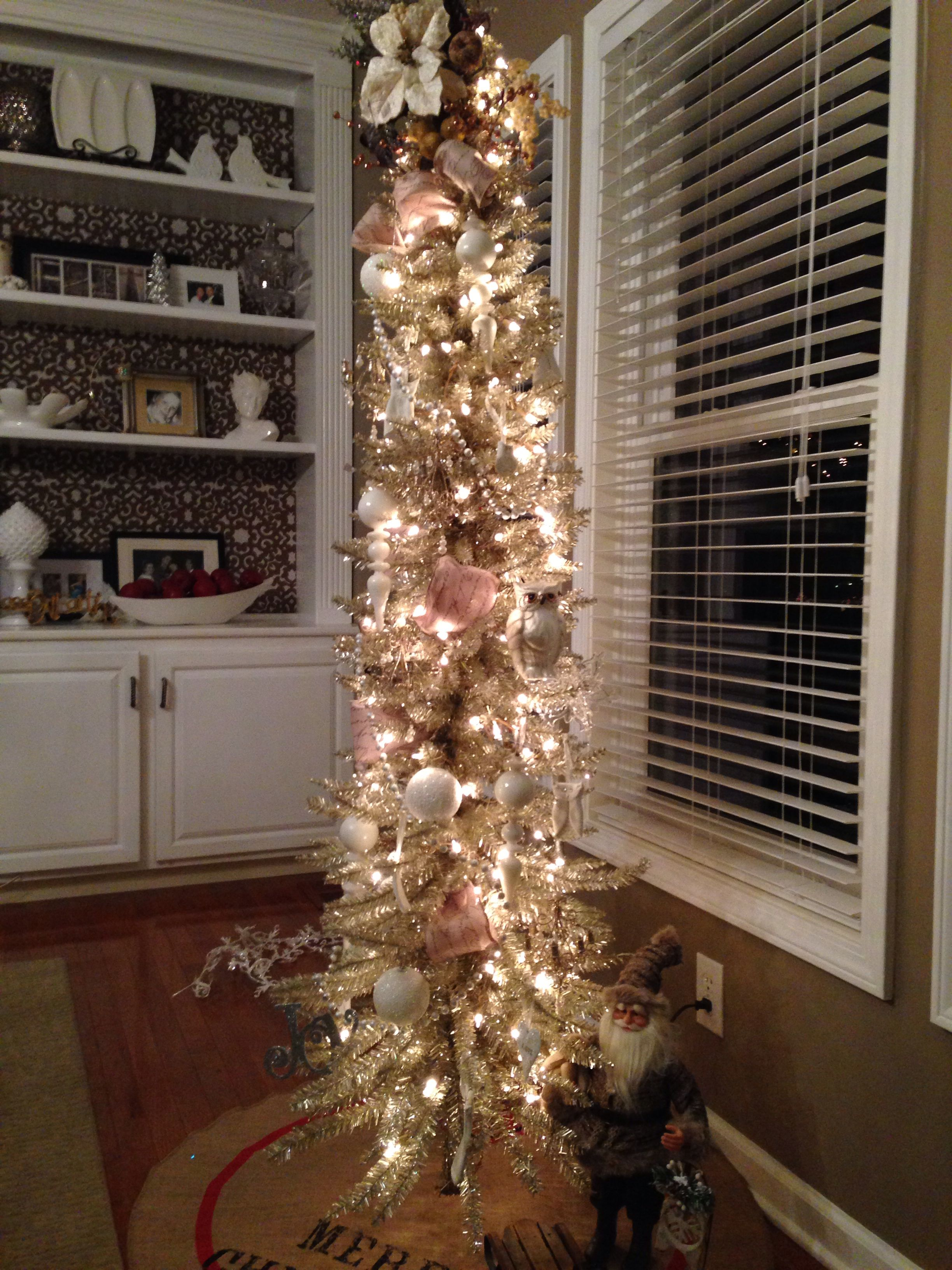 My Champagne Colored Christmas Tree Champagne Christmas Tree Colorful Christmas Tree Christmas Tree