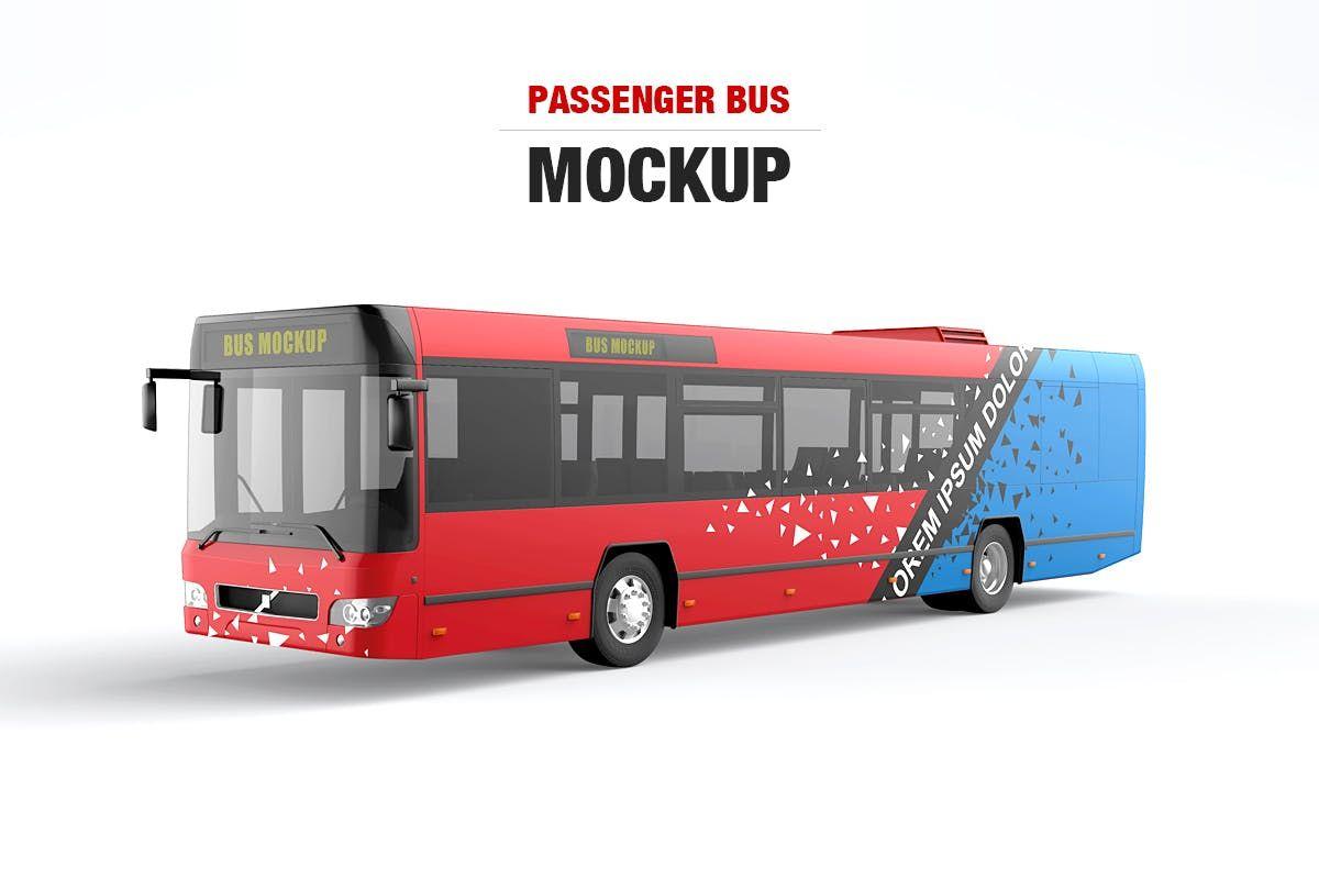 Bus wrap mockup free