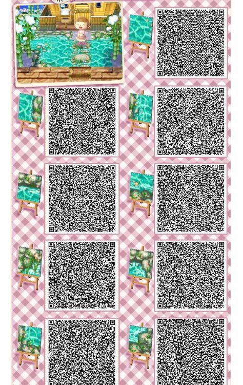 Animal Crossing Cute Water Qr Codes Qr Codes Soeur