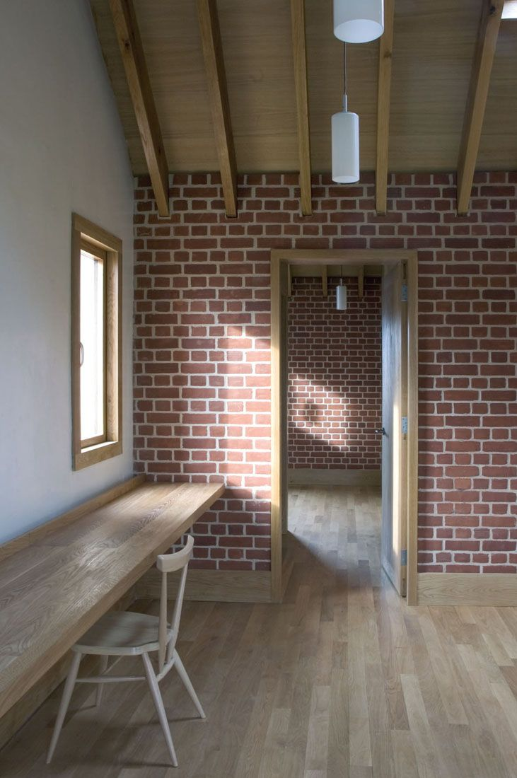Love brick interior. get the same look with our used or stl brick panels 4x8 ft DIY so easy to install. so realistic.