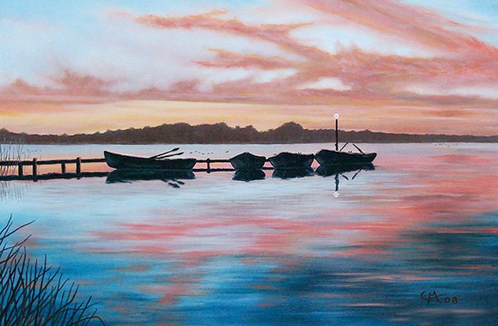 Paisajes Marinos Para Pintar Al Oleo Pintura Marina Pinturas Abstractas Pinturas Impresionistas