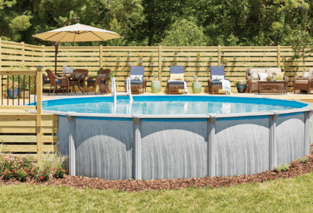 Above Ground Pools Pools The Home Depot In Ground Pools Swimming Pools Backyard Round Above Ground Pool