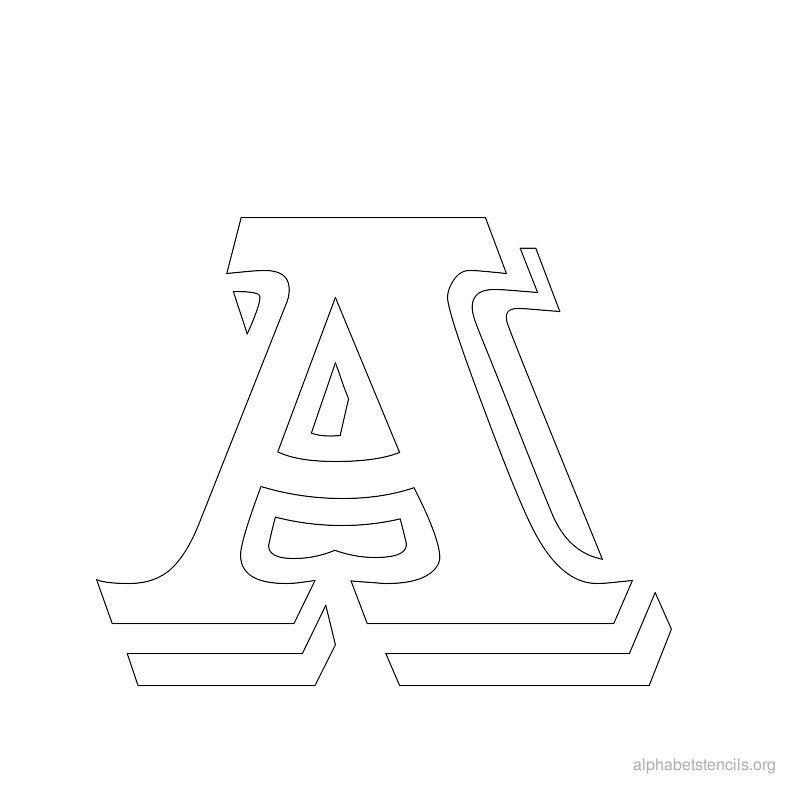 Print Free Alphabet Stencils Vintage A | Party Time