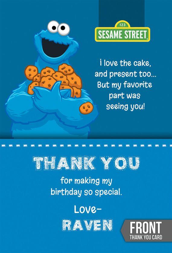 Sesame Street Birthday Card Printable Sesame Street Party Invite Personalized Sesame S Sesame Street Birthday Birthday Card Printable Cookie Monster Birthday