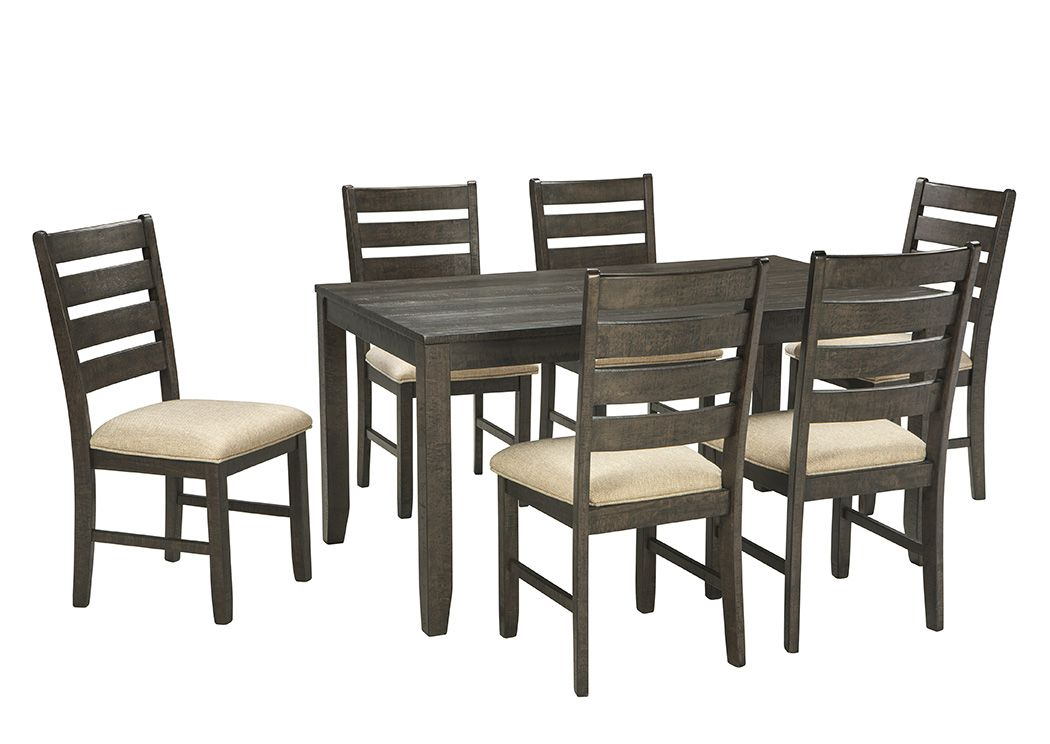 Rokane Brown Dining Room Table Set Dimension Rectangular