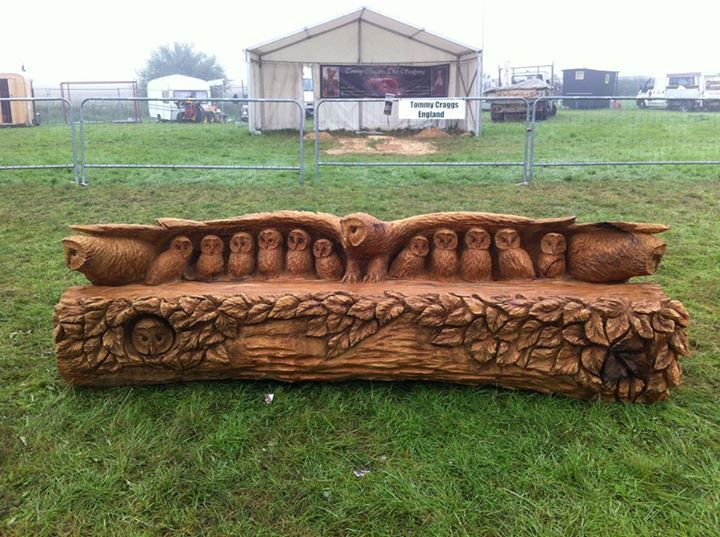 Owl Bench Carved From A Tree Furniture Magic Wood
