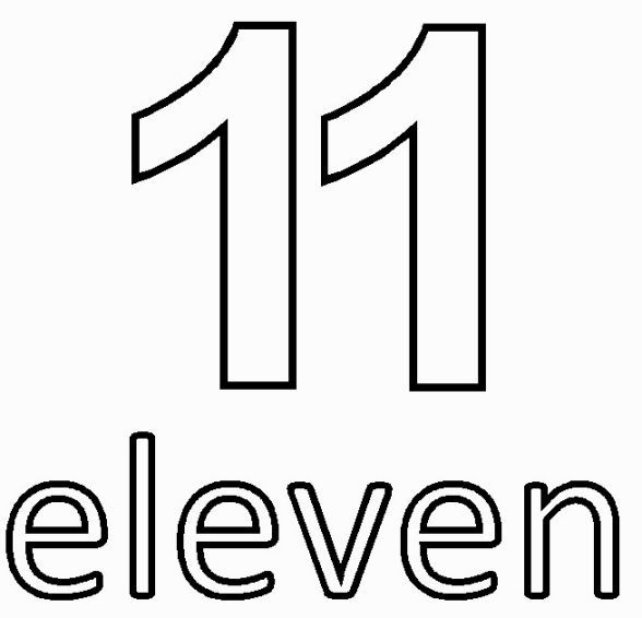 Number 11 Coloring Page Coloring Pages 11 11 Make A Wish Numbers