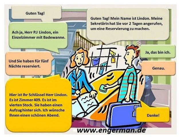 Gesprach Im Hotel With Images Learn German German Phrases