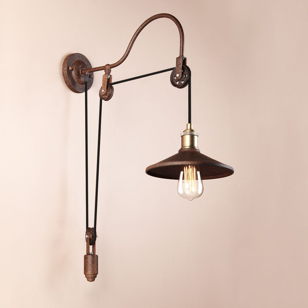 pulley sconce modern loft vintage porch industrial aisle wall light