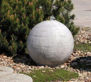 Brunnenkugel +Pumpe +PE Becken Springbrunnen Gartenbrunnen Brunnen BLACKFORM