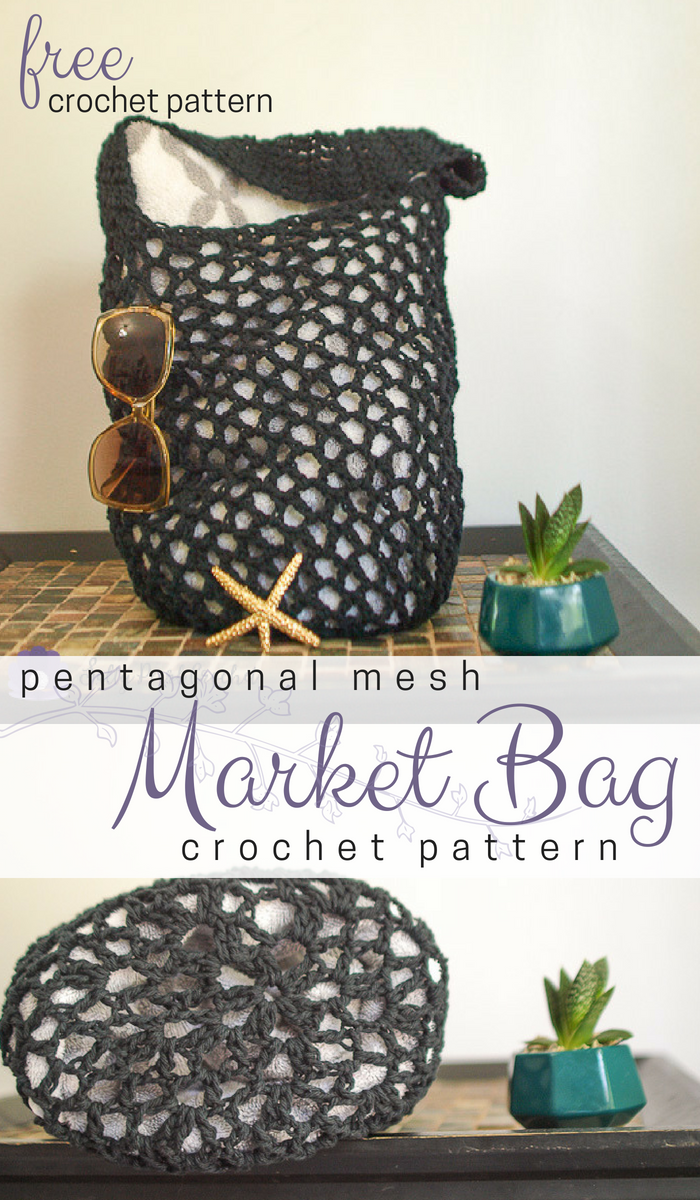 Free Pentagonal Mesh Market Bag Pattern Books To Read Pinterest