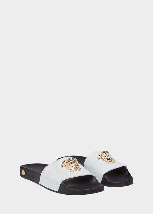 72e0303ddc31 VERSACE Baroque Medusa Slides.  versace  shoes