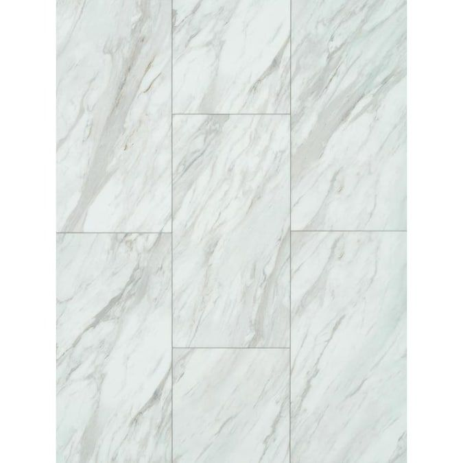 Smartcore Pro 8 Piece 12 In X 24 In Gardena Marble Interlocking Luxury Vinyl Tile Lowes Com In 2020 Marble Vinyl Vinyl Tile Luxury Vinyl Tile