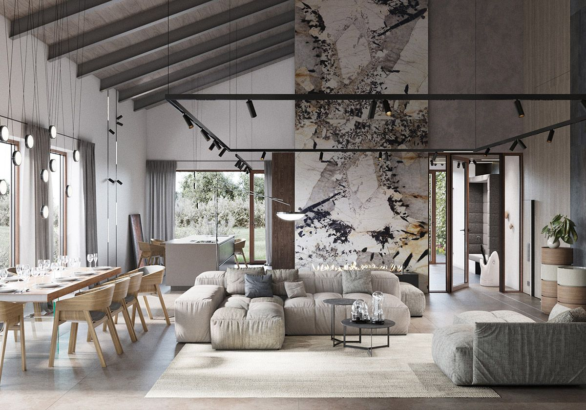 51 Luxury Living Rooms And Tips You Could Use From Them Modern Rustic Living Room Contemporary Rustic Living Room Rustic Home Interiors