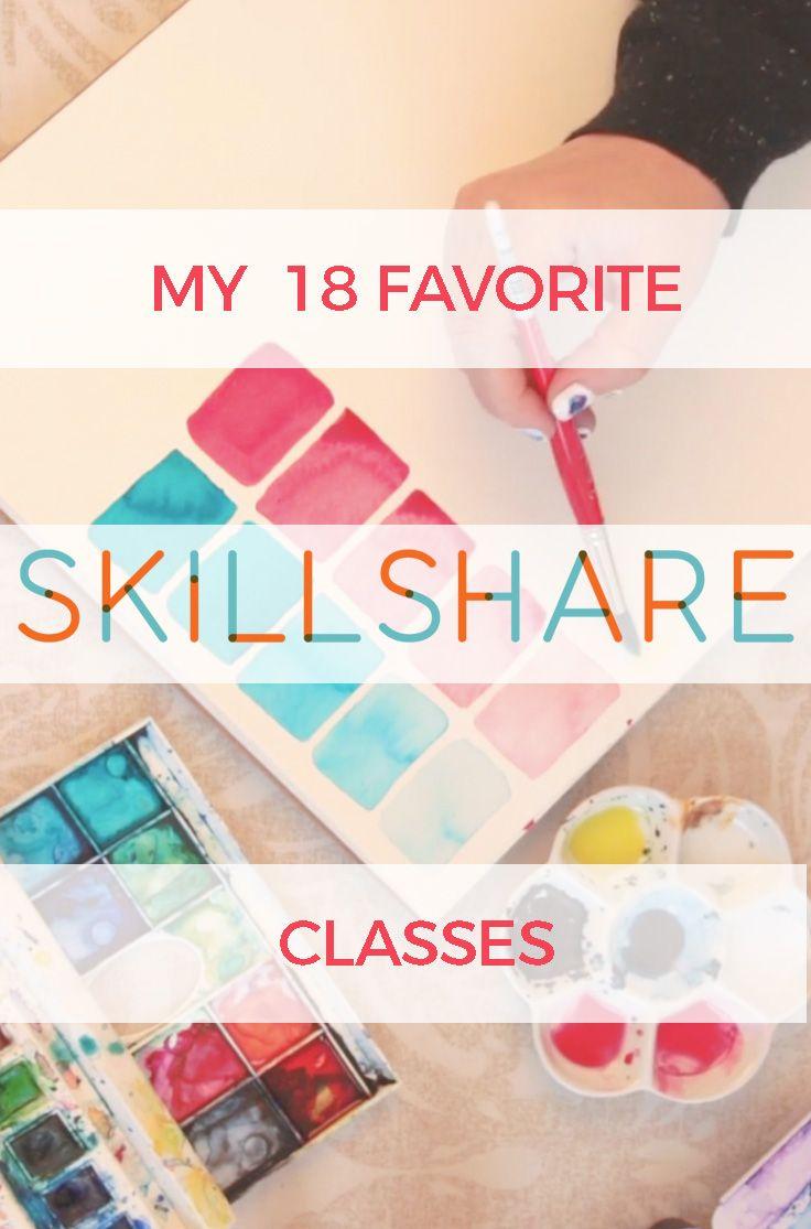 18 Favorite Skillshare Classes : I've been a member of Skillshare for a few years now and I've really enjoyed the classes I've taken. Here is my review. #skillshare #creativity