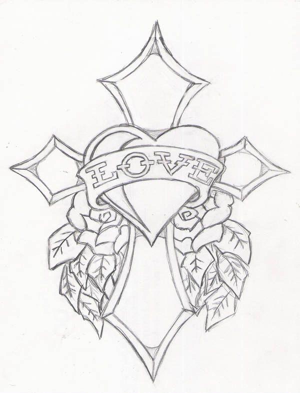 crossofloveedhardyicemaxx1  cross drawing cross