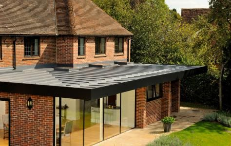 The Roof Assured By Sarnafil Single Ply Membrane Flat Roof Solution Has A 40 Years Life Expectancy Can In 2020 Flat Roof Systems Flat Roof Extension House Extensions