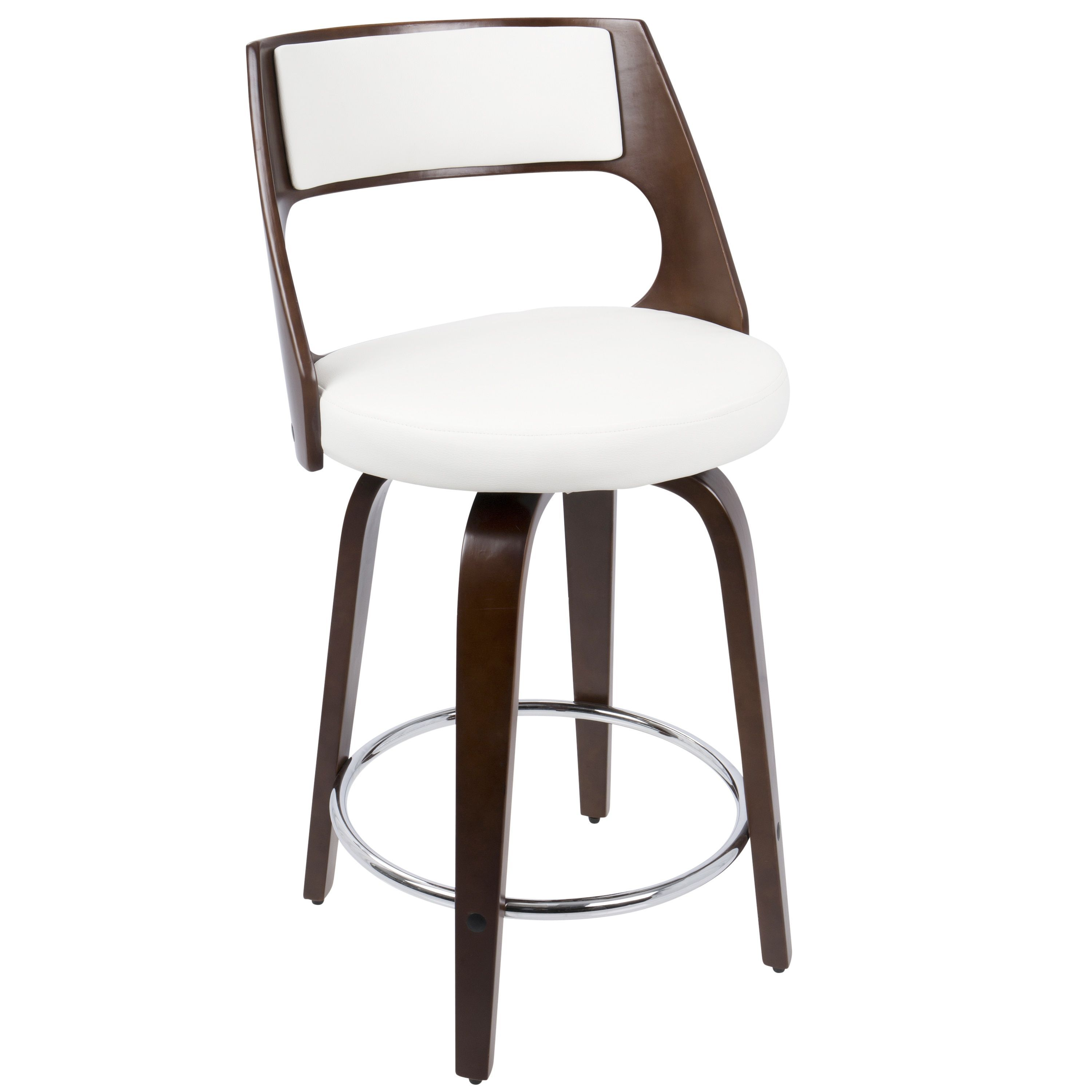 Cecina Mid Century Modern 24 Inch Counter Stool By Lumisource White