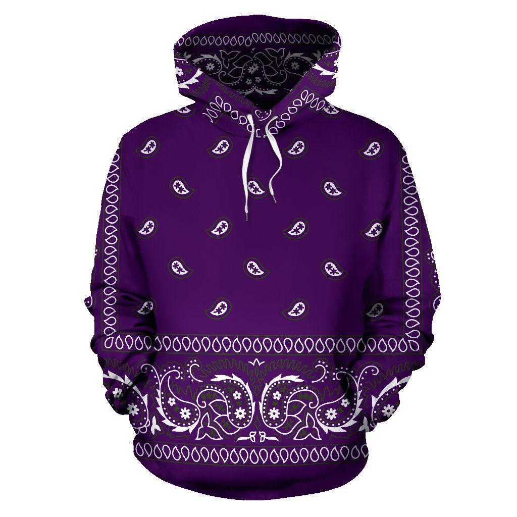 fef7f2d257c Bandana Fever Purple Bandana Print Pullover Hoodie in 2019 ...
