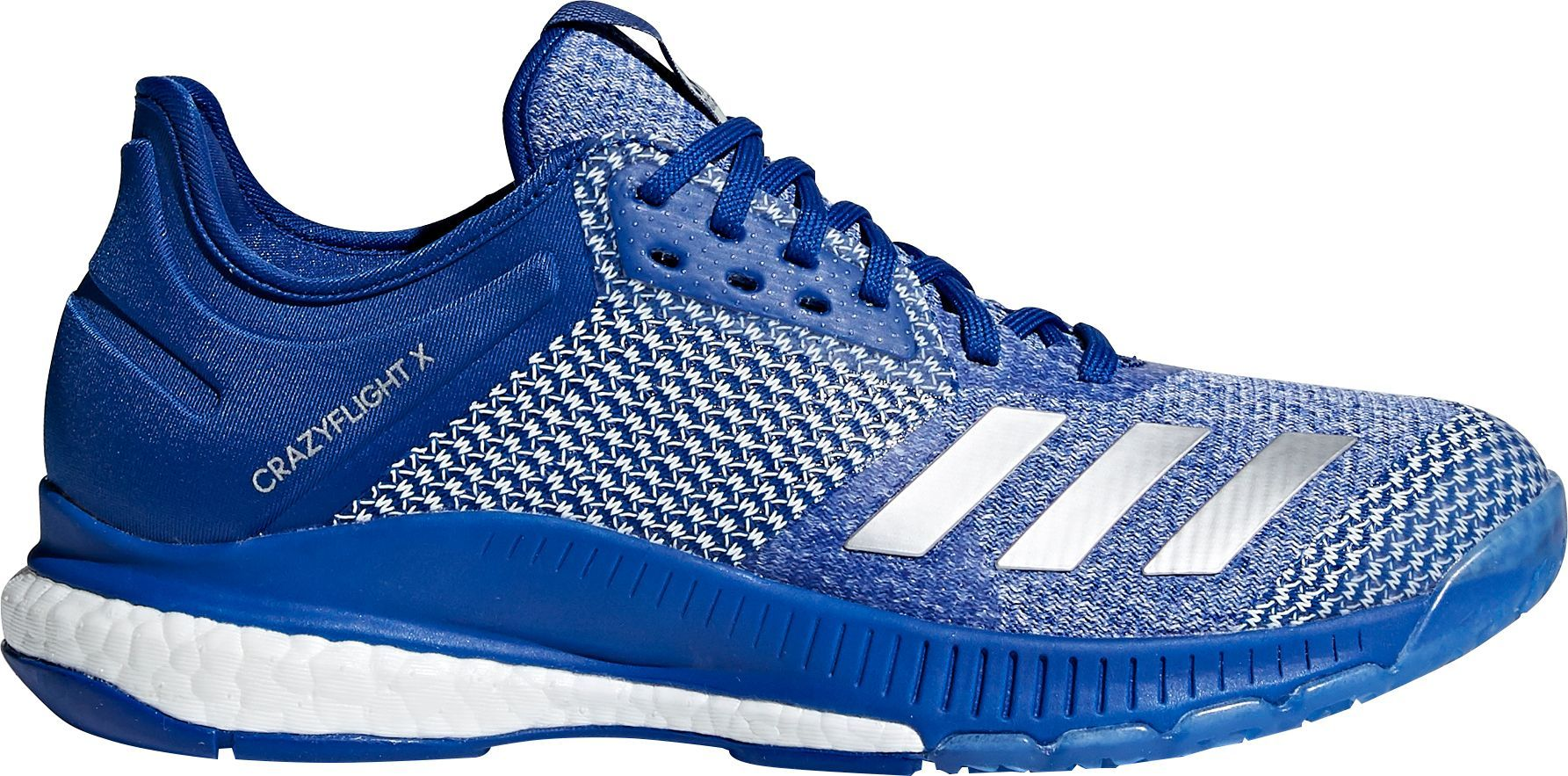 Adidas Women S Crazyflight X 2 0 Volleyball Shoes Size 10 0 Blue Silver Volleyball Shoes Adidas Women Adidas