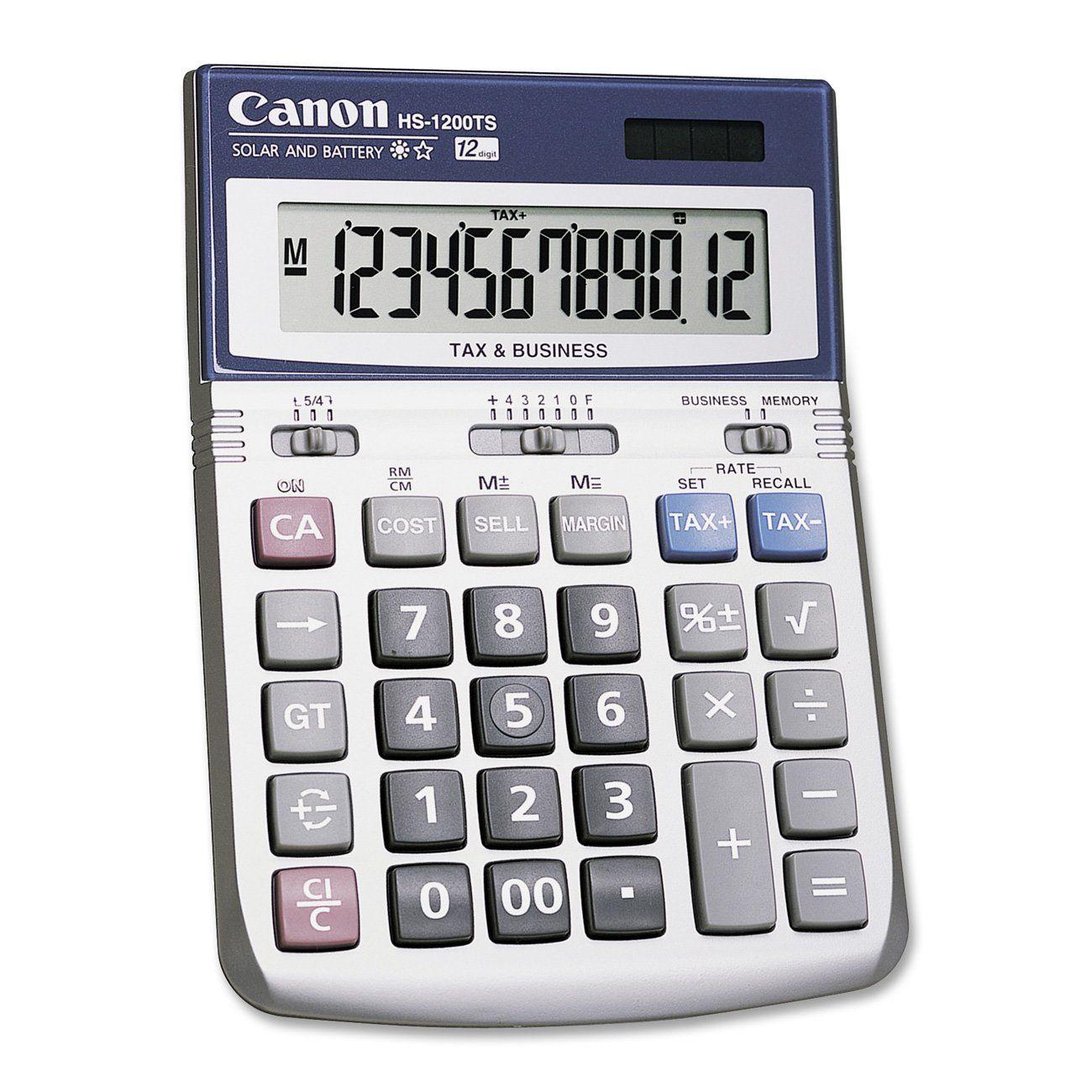 Canon office products hs 1200ts business calculator calculators calculator biocorpaavc