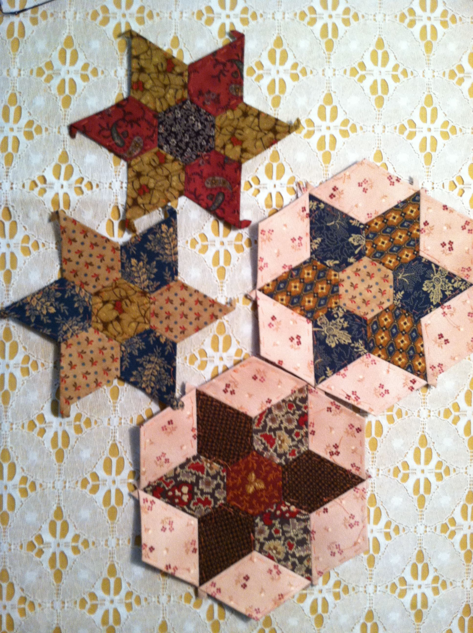 English Paper Piecing-next project from Paper Pieces pattern ... : paper pieced star quilt patterns - Adamdwight.com