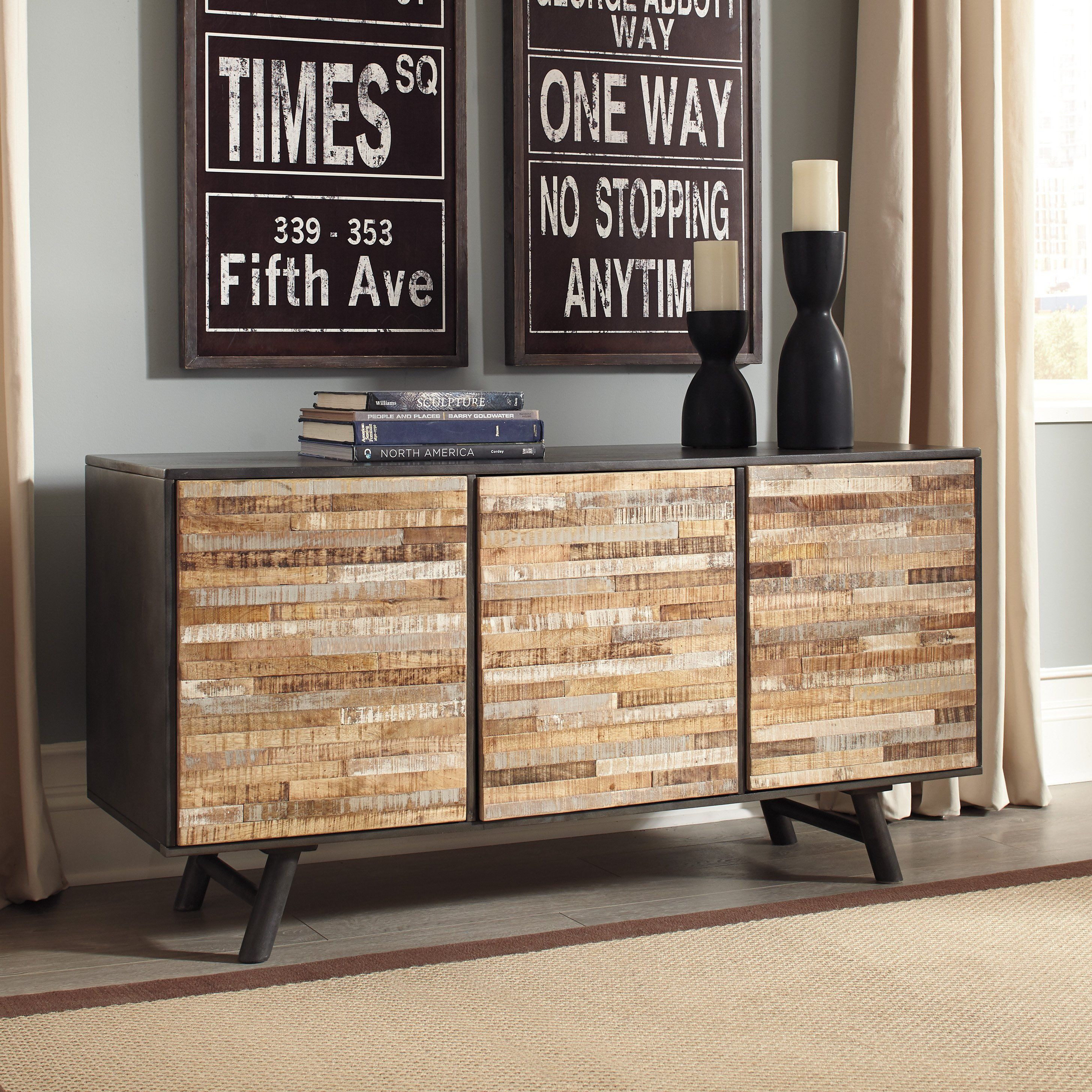 Signature Design A4000043 Forestmin Natural Wood Finish Accent