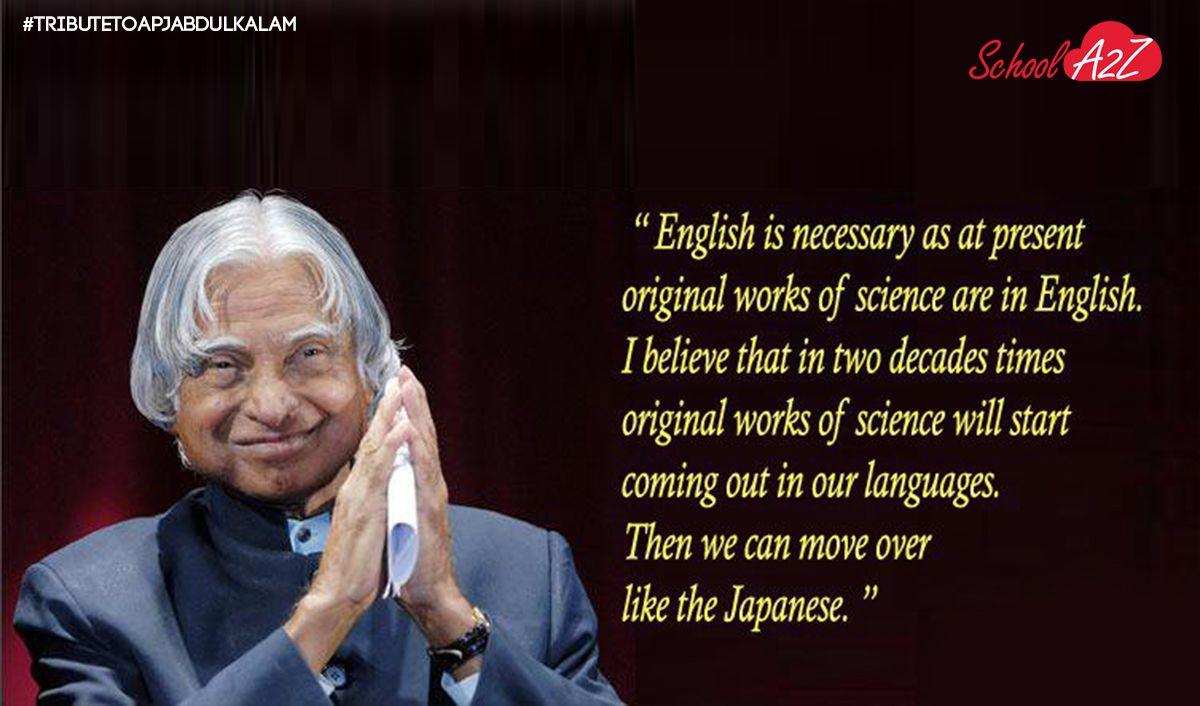 A Tribute To A P J Abdul Kalam Schoola2z President