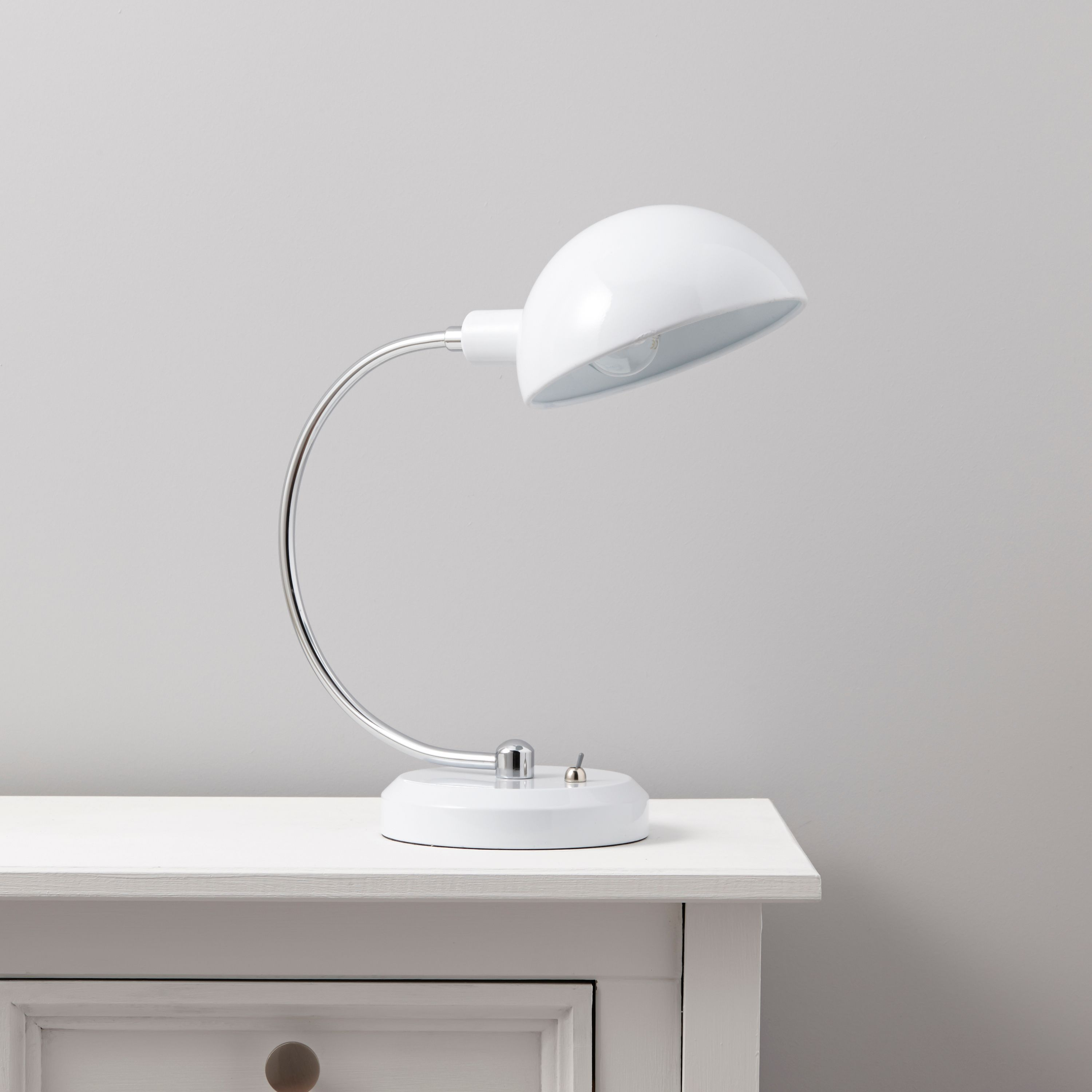 Walsh Dome Head White Table Lamp - Table Lights -