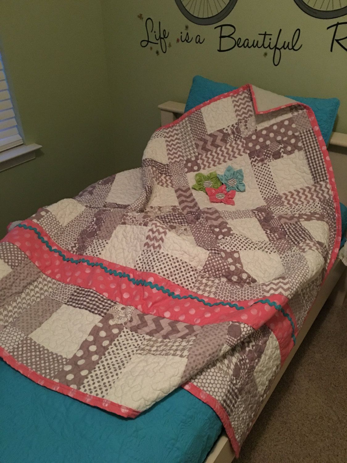 Riley Blake Petal Party Quilt by TheQuiltedSis on Etsy